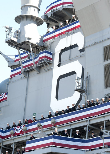 SAN FRANCISCO (NNS) -- USS America (LHA 6), the Navy's newest and most technologically advanced amphibious assault ship, was commissioned during a formal ceremony at Pier 30/32 during San Francisco Fleet Week.