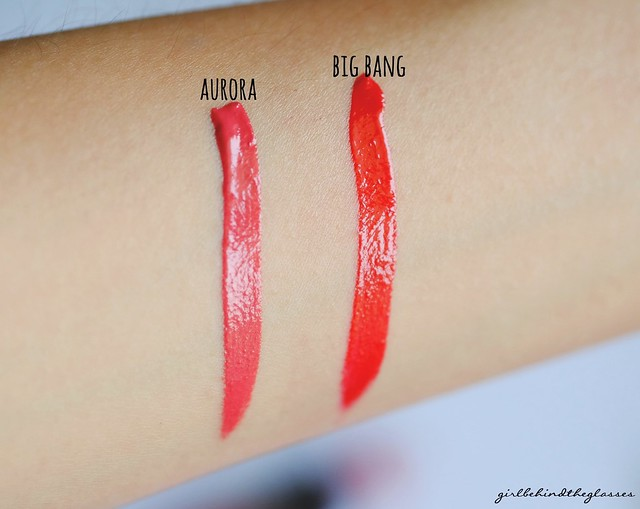 Rimmel Show Off Lip Lacquer Aurora Big Bang swatch