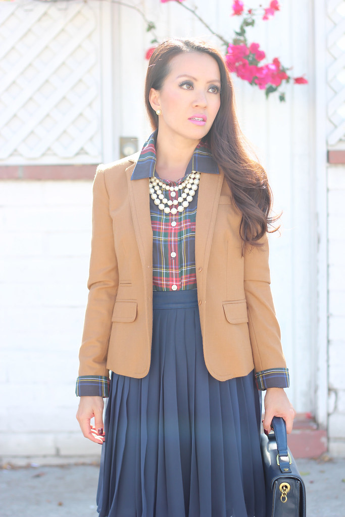 Plaid, Pearls and Pleats-5