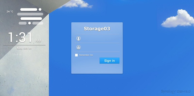 Synology DiskStation - Step 1