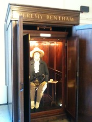 Jeremy Bentham in his box at UCL