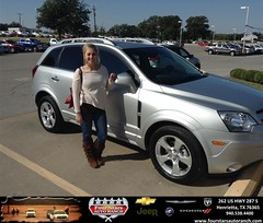 Congratulations to Kayla Provence on your #Chevrolet #Captiva Sport Fleet purchase from Everyone at Four Stars Auto Ranch! #NewCar