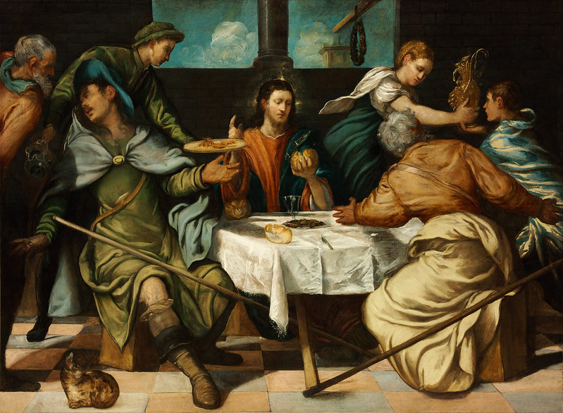 Jacopo Tintoretto - The Supper at Emmaus (c.1542)