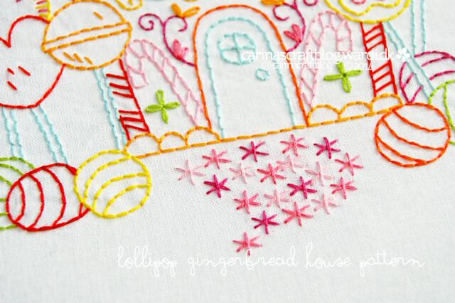 Lollipop Gingerbread House detail