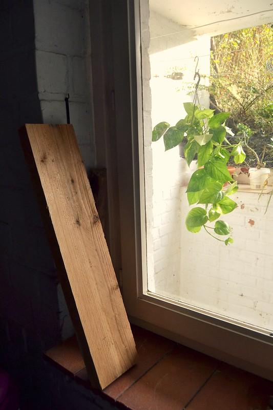 madera en el lavadero
