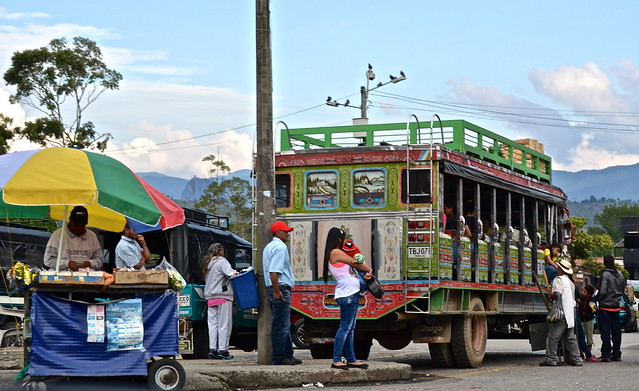 Bus stop - chivas in colombia