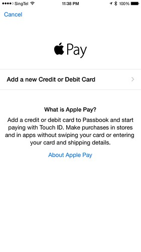 Apple Pay - Add a new Credit or Debit Card