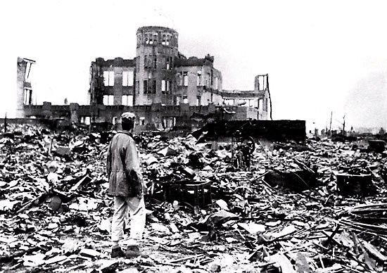 Aftermath of the atomic bomb strike on Hiroshima, Japan