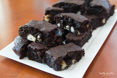 Fudgy Chocolate Brownies with Macadamia Nuts