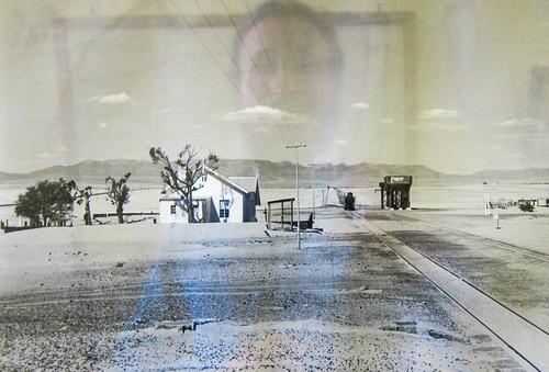 Old photo of Garub train station, between Aus and Lüderitz, Namibia. Windhoek railway museum