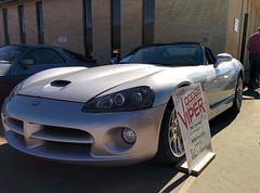 muscle car(0.0), race car(1.0), automobile(1.0), automotive exterior(1.0), hennessey viper venom 1000 twin turbo(1.0), wheel(1.0), vehicle(1.0), performance car(1.0), automotive design(1.0), chrysler viper gts-r(1.0), bumper(1.0), land vehicle(1.0), srt viper(1.0), supercar(1.0), sports car(1.0),