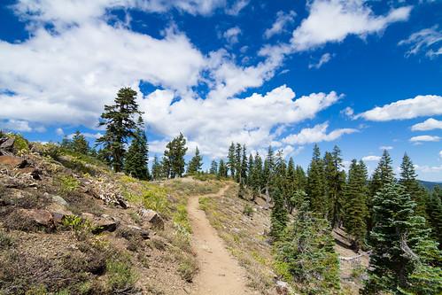california clouds forest landscape unitedstates trail sierracity