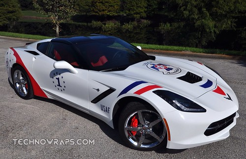 2014 Corvette Thunderbirds tribute car graphics in Orlando