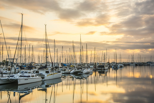 sky clouds marina sunrise boats manly sunsetsandsunrisesgold cloudsstormssunsetssunrises slowshutteronwater