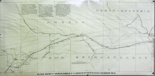 Plan of the railway between Namibia and Botswana.Windhoek railway museum