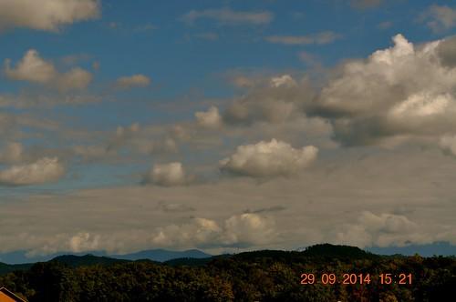 mountain clouds view condos