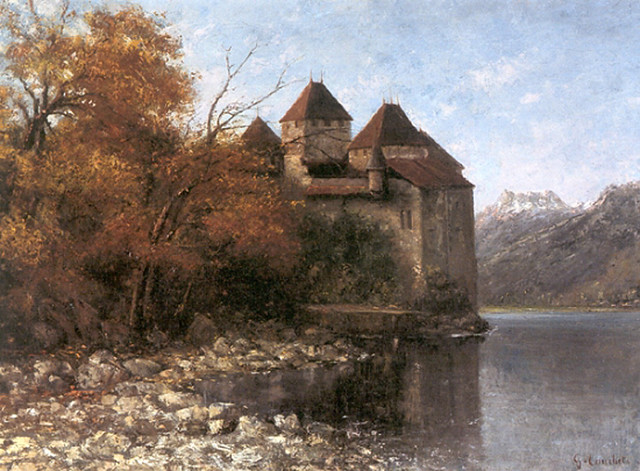 chateau-de-chillon Gustave Courbet