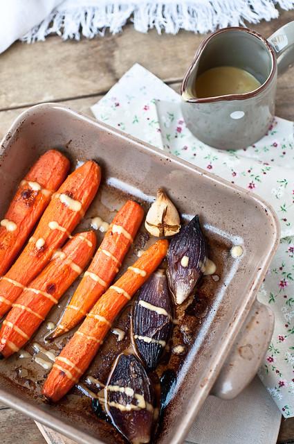 Verdure arrosto con salsa alla senape