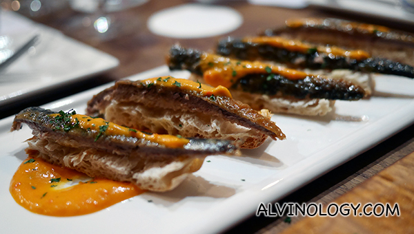 Sardinas en Escabeche - homemade sardines cooked in vinegar, olive oil and paprika