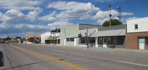 Downtown Lingle, Wyoming