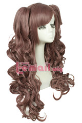 65cm long Mixed color Lolita clip on ponytail wavy wigs JF010B