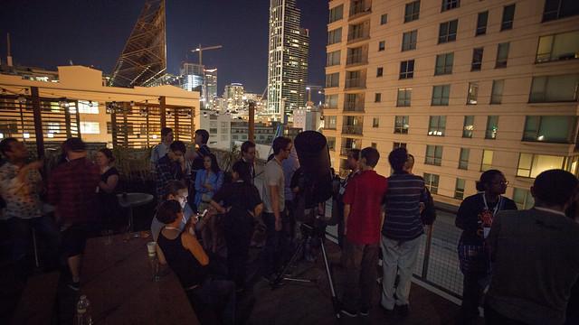 Stargazing on GitHub's roof