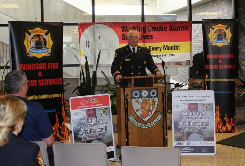 CFPO Lee Tome - Fire Prevention Week Kick-Off - St. Clair College