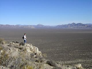 Pahranagat Valley (view from Bactrian Mountain, Mt. Irish Range, southern Nevada, USA)