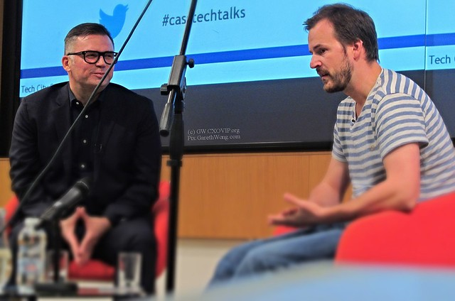 Matt Cowan @londonjourno Director of Media at Nelson Bostock Communications with @Taavet Hinrikus TransferWise co-founder IMG_6936