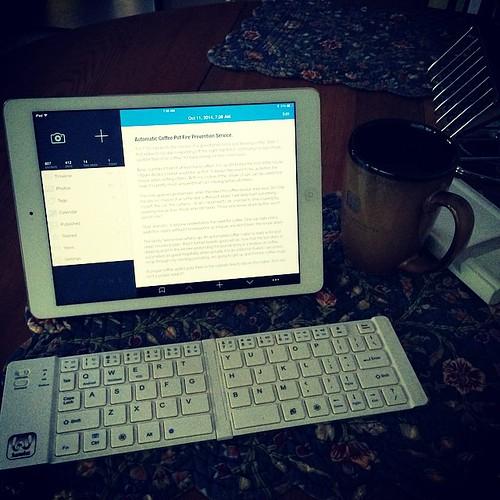 Morning writing desk.