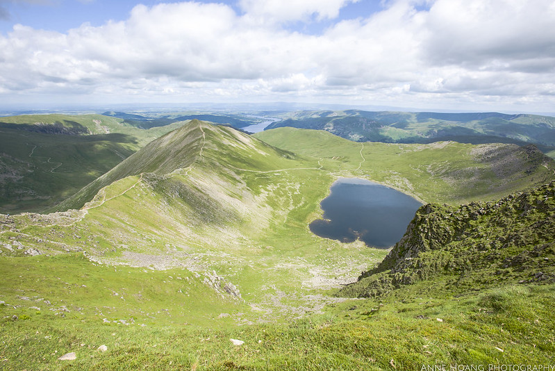 Lake District viewpoint from Helvellyn summit