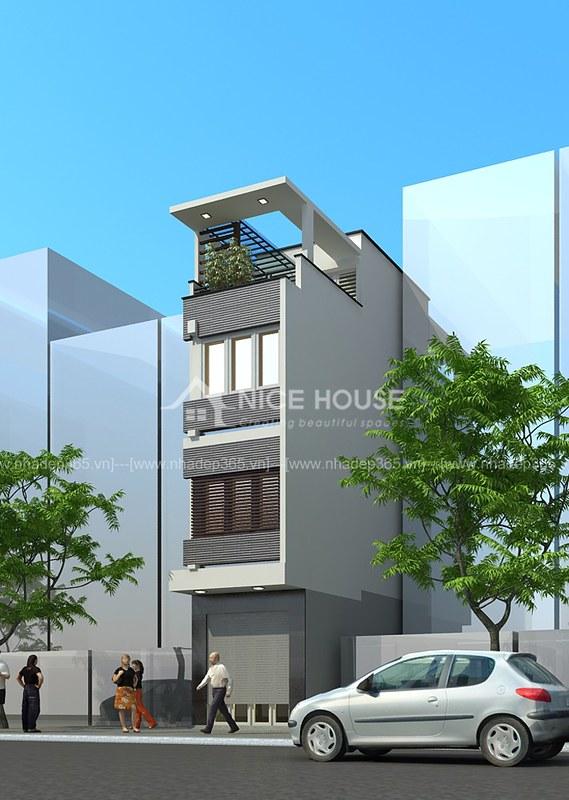 Tư vấn thiết kế nhà phố 4 tầng đẹp