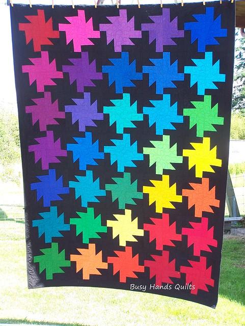 Rainbow Sparkler Twin Quilt