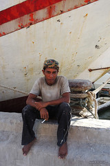 Worker on break - Sunda Kelapa port - Jakarta