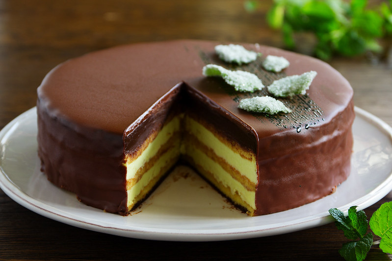 "Mint Cake ""Opera"" home cooking."
