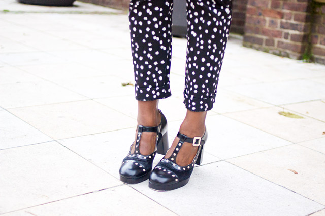 Orla Kiely Clarks Mary-Jane shoe