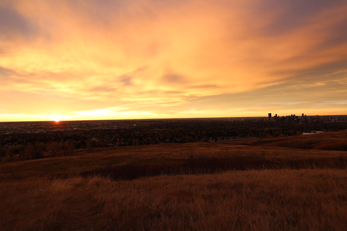 calgary fall sunrise nose hill 2014