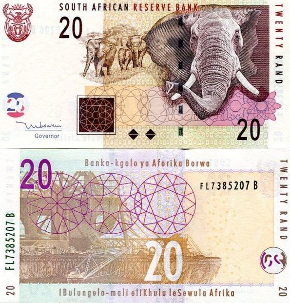 20 Randov Južná Afrika 2005-9, Pick 129