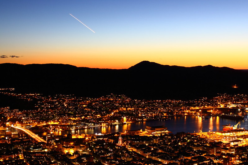 Bergen at night