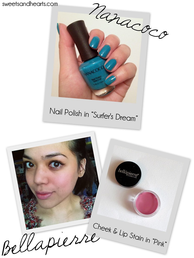 Beauty Box 5 Review & Swatches October Unboxing 2014, with Chapstick hydration lock, Bellapierre cheek and lip stain, Nanacoco nail polish, Lashem Picture Perfect, and Extend Your Beauty cosmetic tool spatula