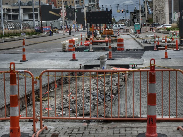 Cincinnati Streetcae construction