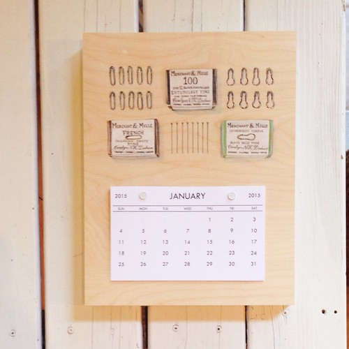 Merchant and Mills Pins- 2015 Calendar