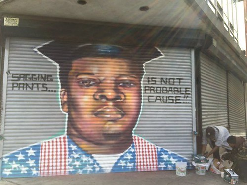 Trenton mural- Mike Brown of Ferguson Mo.