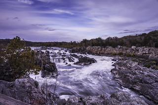 Great Falls, a Wide Angle Perspective