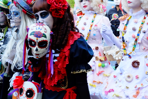 "Best woman award ""Mexican scull"" Kawasaki Halloween parade 2014 08"