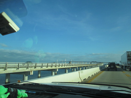 Shuttling across the Bay Bridge in a pickup