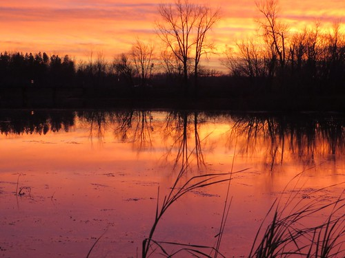 sunset minnesota rural river