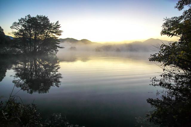 Lake Onogawa morning mist