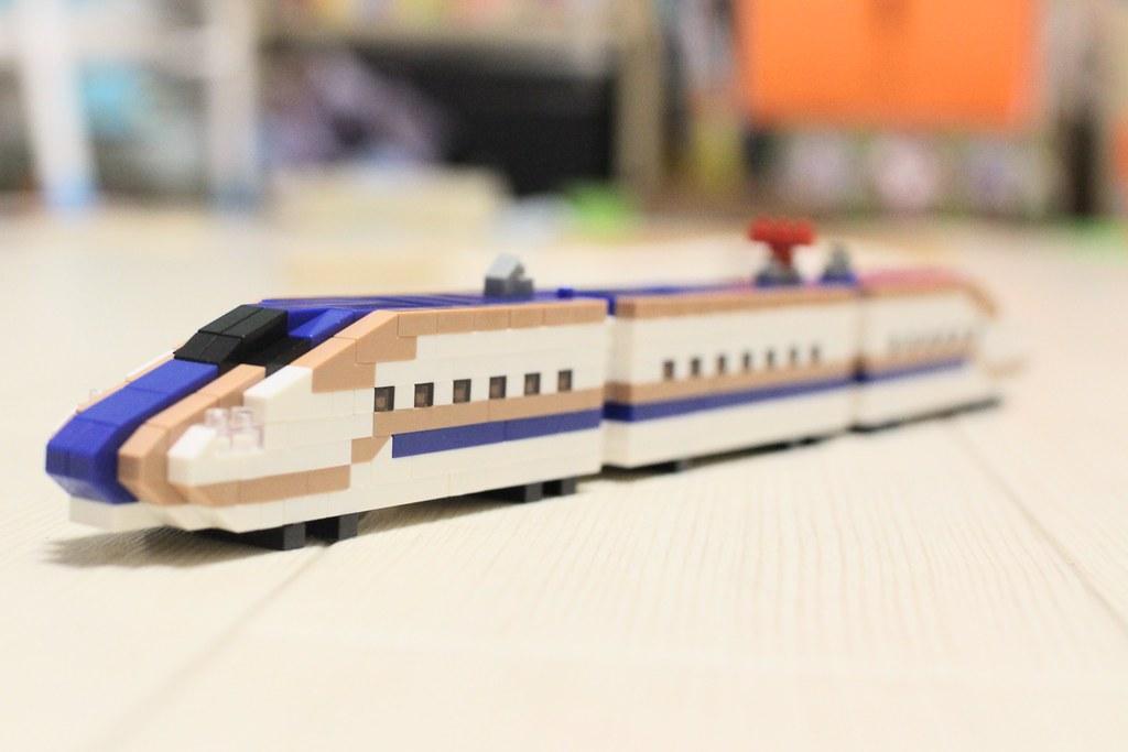 ナノブロックトレインコレクション_E7系新幹線全体