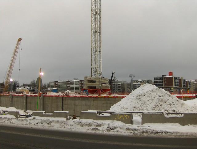 Hämeenlinnan moottoritiekate ja Goodman-kauppakeskus: Työmaatilanne 13.1.2013 - kuva 7